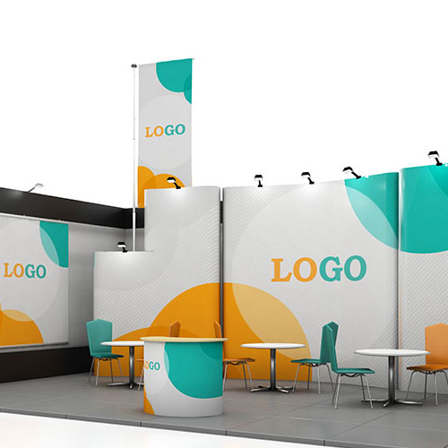 Blank creative exhibition stand design